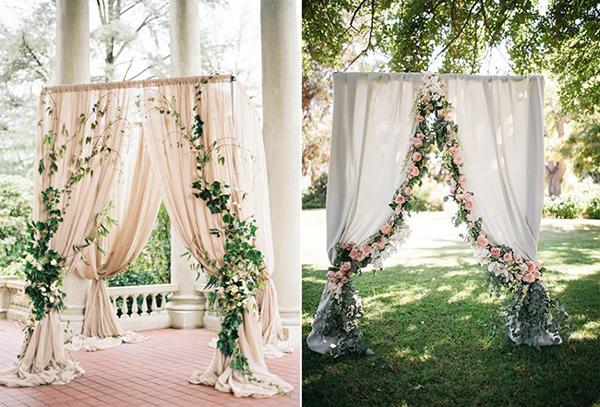 7 mẫu backdrop đẹp, độc đáo và dễ làm cho đám cưới 4