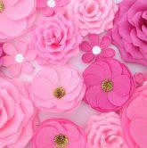 Độc đáo với background hoa giấy đám cưới 6